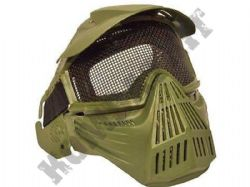 Airsoft Mask Full Face Safety Protection Metal Mesh Eye Goggles Green